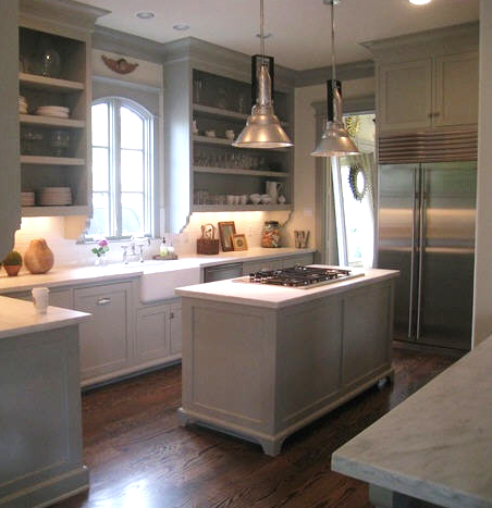 This one below is in martha stewart bedford gray from her own kitchen