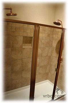Double shower heads branson cabin