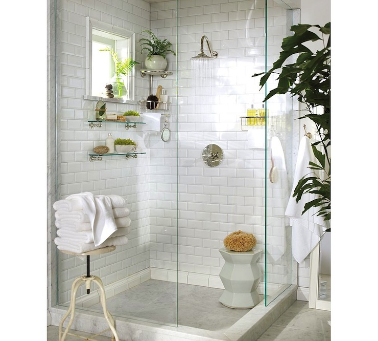 White bathroon potterybarn
