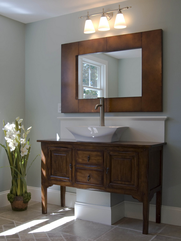 HGTV vessel sink vanity