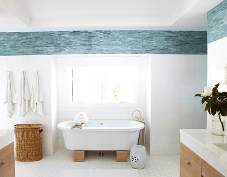Tile near ceiling