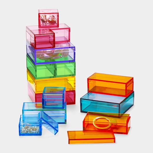 MoMA plastic storage boxes