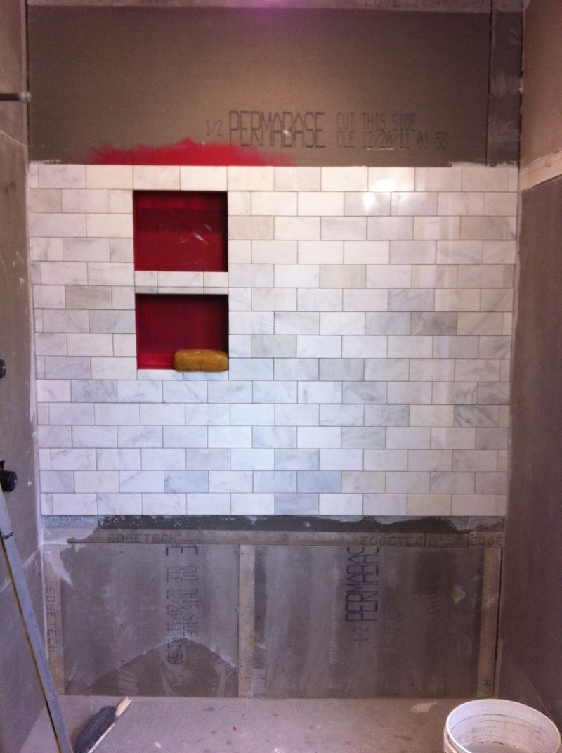 Marble wall started